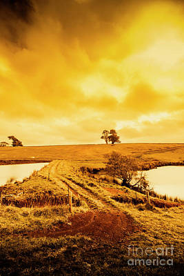 Water Filter Photograph - Rural Australia Farm Crossing by Jorgo Photography - Wall Art Gallery