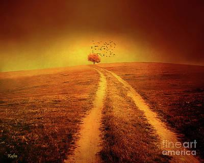 Rural Autumn Landscape Art Print