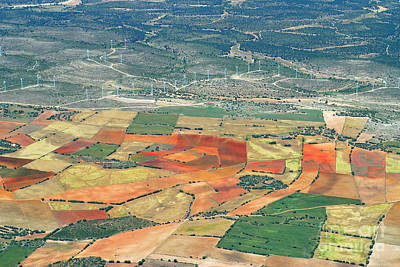 Aerial Photograph - Rural Beauty Iv by Guido Montanes Castillo