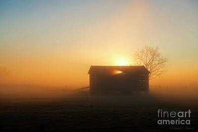 Photograph - Rural Building At Dawn by David Arment