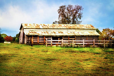 Photograph - Rural Cattle Barn by Barry Jones