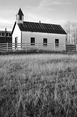 Photograph - Rural Church Black And White by Jill Reger