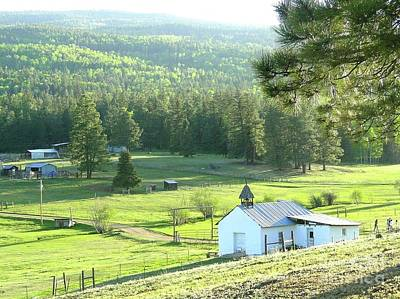 Photograph - Rural Church In The Valley by Cindy Croal