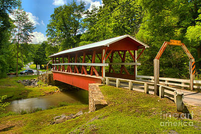 Photograph - Rural Colvin Covered Bridge by Adam Jewell