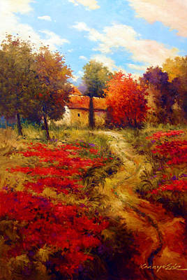 Painting - Rural Cotone 2 - Italian Village Painting by Kanayo Ede