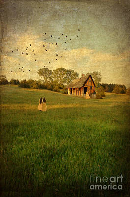 Rural Cottage Art Print by Jill Battaglia