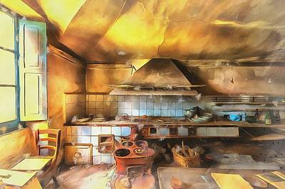 Rural Culinary Atmosphere Nr 2 - Atmosfera Culinaria Rurale IIi Paint Art Print