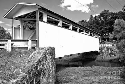 Photograph - Rural Dunnings Creek Covered Bridge by Adam Jewell