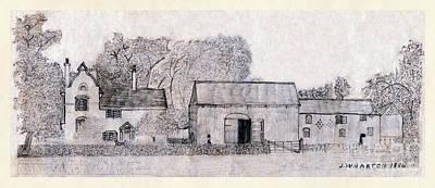 Drawing - Rural English Farm Dwelling Classic by Donna Munro