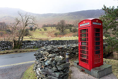 Photograph - Rural English Phone Box by Paul Cowan