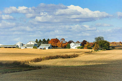 Photograph - Rural Farm In Fall by Joni Eskridge