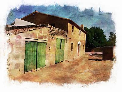 Photograph - Rural Farmhouse by Anthony Dezenzio