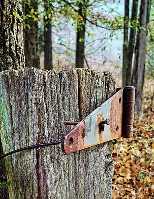 Photograph - Rural Fence Post - Kentucky by Greg Jackson