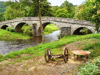 Photograph - Rural France With Old Stone Arched Bridge by Menega Sabidussi