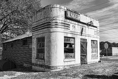 Photograph - Rural Gas Station Black And White by Sharon Popek