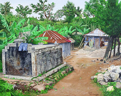 Rural Haiti - A Study In Poignancy Art Print