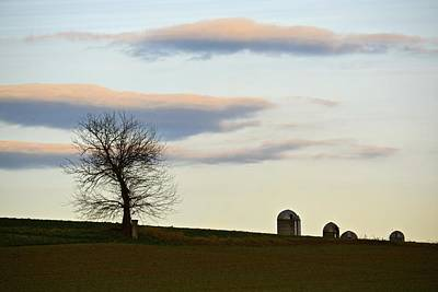 Photograph - Rural Horizon With Peach Clouds by Tana Reiff