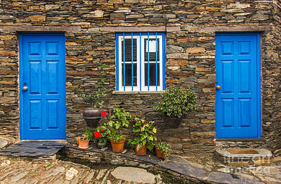 Blue Photograph - Rural House Detail by Carlos Caetano