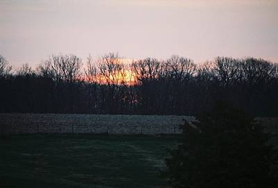 Rural Illinois Sunset Print by C E McConnell