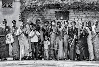 Photograph - Rural Indian Villagers by Tim Gainey