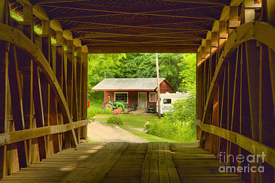 Photograph - Rural Indiana Through A Covered Bridge by Adam Jewell