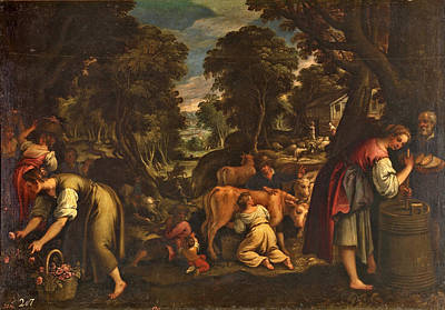 Painting - Rural Labours Or Spring by Paolo Fiammingo