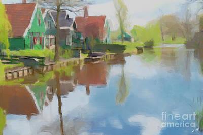 Painting - Rural Landscape by Sergey Lukashin