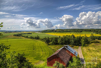 Field. Cloud Photograph - Rural Landscape by Veikko Suikkanen
