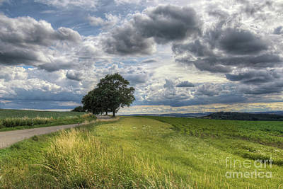 Photograph - Rural Landscape With Dramatic Sky by Michal Boubin