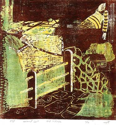 Virtual Mixed Media - Rural Landscape With Fields by Makarand Joshi