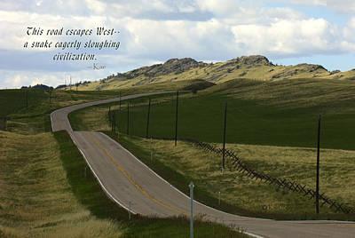 Mixed Media - Rural Landscape With Haiku by Kae Cheatham