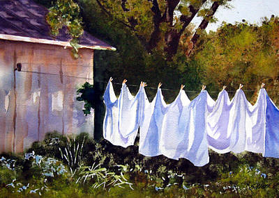 Washday Painting - Rural Laundromat by Marsha Elliott