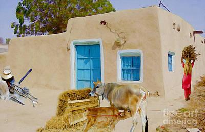 Digital Art - Rural Life  by Manjot Singh Sachdeva