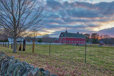 Photograph - Rural Massachusetts Rustic Red Barn by Juergen Roth
