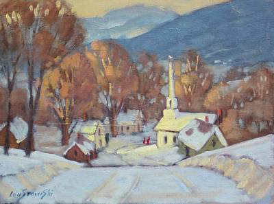 New England Village Painting - Rural New England by Len Stomski