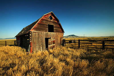 Barn Red Photograph - Rural Noir by Todd Klassy