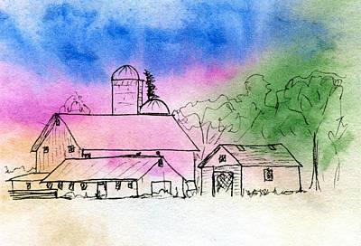 Local Food Mixed Media - Rural Nostalgia by R Kyllo