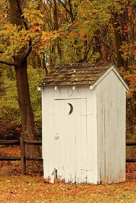 Photograph - Rural - Outhouse - When Nature Calls by Mike Savad