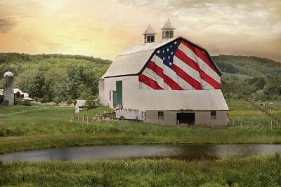 Photograph - Rural Patriotism by Lori Deiter