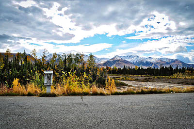 Photograph - Rural Phone Booth - Alaska Highway by Cathy Mahnke