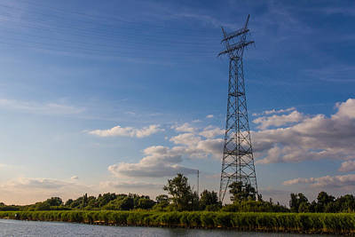 Photograph - Rural Pylon In Holland by Clare Bambers