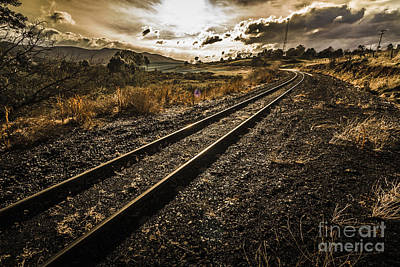 Avoca Photograph - Rural Rail Line by Jorgo Photography - Wall Art Gallery