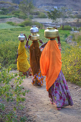 Traditionell Photograph - rural Rajasthan by Joana Kruse