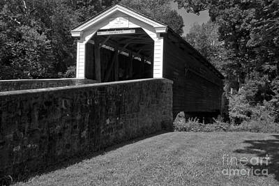 Photograph - Rural Rapps Bridge Black And White by Adam Jewell