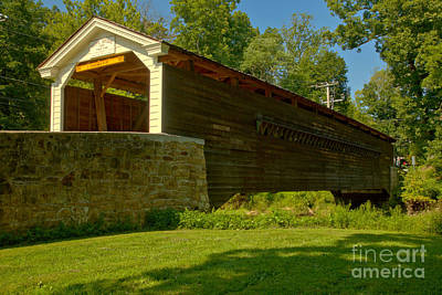 Photograph - Rural Rapps Covered Bridge by Adam Jewell