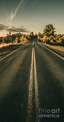 Victoria Land Photograph - Rural Road In Gellibrand Lower by Jorgo Photography - Wall Art Gallery