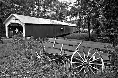 Photograph - Rural Roseville Indiana Black And White by Adam Jewell