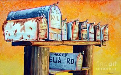 Rural Route Art Print by Gail Zavala
