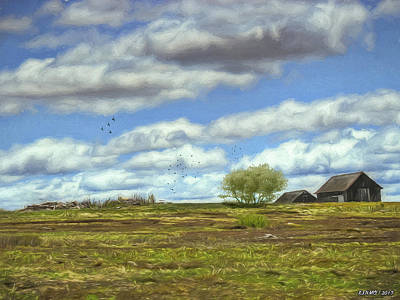 Digital Art - Rural Scene In Northern Maine by Ken Morris