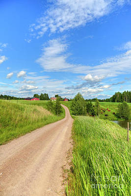 Country Cottage Photograph - Rural Scenery by Veikko Suikkanen